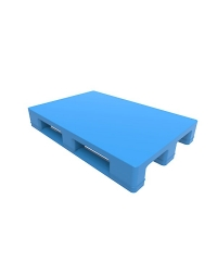 Flat Top Three Runners Plastic Pallet